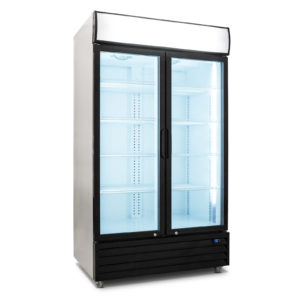 2 Door 1000L Display Fridge
