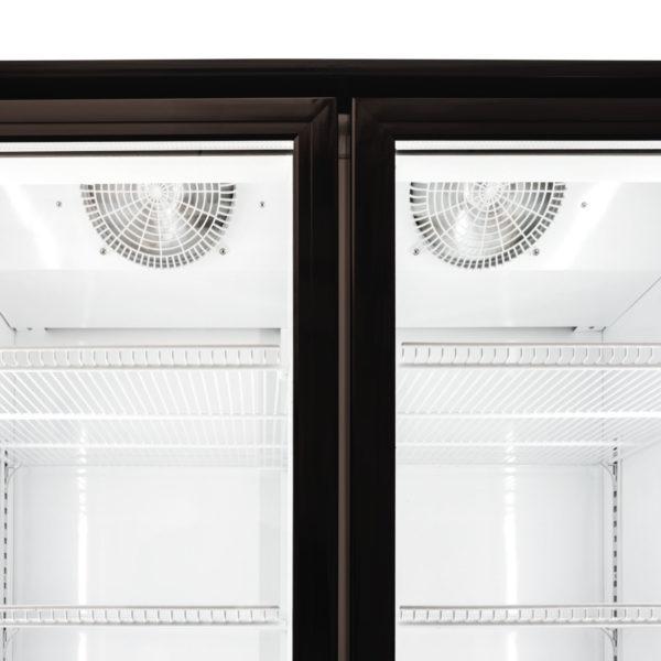 2 Door 1000L Display Fridge